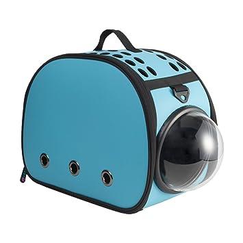 CLCZN Smart Refrigeración Pet Cat Mochila Transparente Portátil Perro Bolsa Espacio Cat Jaula Cat Bolsa,Blue: Amazon.es: Deportes y aire libre