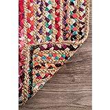 nuLOOM Aleen Braided Cotton/Jute Area Rug, 5' x