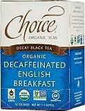 organic british tea - Choice Organic Teas Black Tea, Decaffeinated English Breakfast, 16 Count, Pack of 6