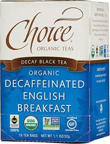 Black Tea, Decaffeinated English Breakfast, 16 Count, Pack of 6 ()
