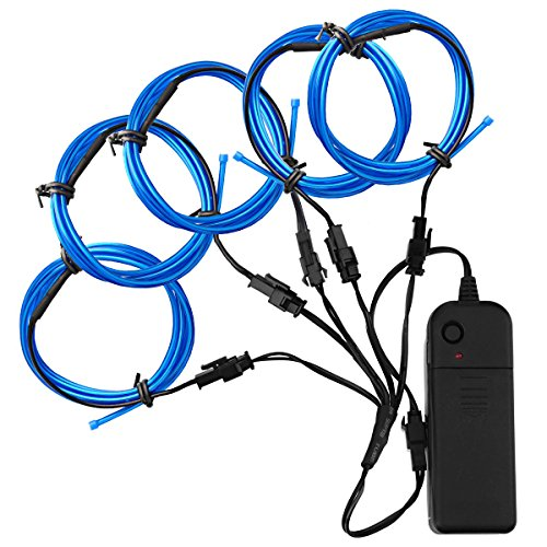 Zitrades El Wire Blue Super Bright Portable El Wires Kits...