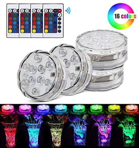 StillCool Floating LED Pool Lights Waterproof Multi Color Lights with Remote and Battery Operated,Festival Flameless Decor Light for Vase,Fish Tank,Garden,Aquarium,Party,Halloween,Christmas Decoration ()