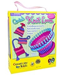 Creativity For Kids Quick Knit Loom – Teaches Beneficial Skills & Creativity – Easy To Use – For Ages 7 & Up