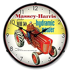 Collectable Sign and Clock 1002244 14 Massey Harris Lighted Clock