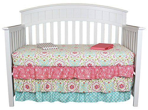 Gia 3-in-1 Fitted Sheets and Dust Ruffle Collection by The P