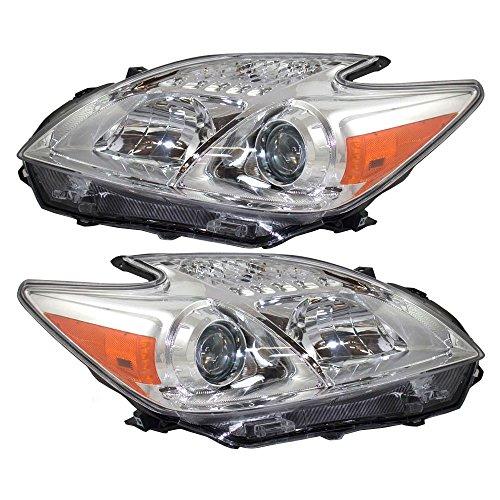 Driver and Passenger Halogen Headlights Headlamps Replacement for 2012-2015 Toyota Prius 81170-47520 81130-47520 AutoAndArt