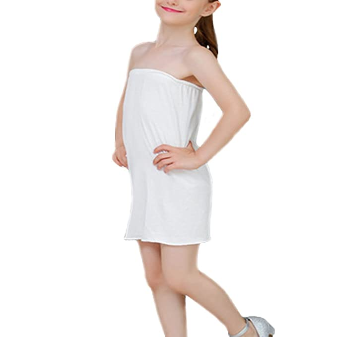 86369d40abc2c Liying Kids Girl Cotton Slip Underskirt Underdress Hoopless Petticoat For  Wedding/Evening/Party dress: Amazon.co.uk: Clothing