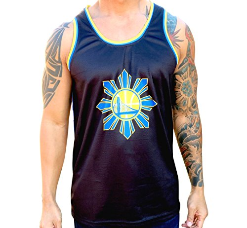 Golden State Warriors Dubs Filipino Floral Mesh Tank Top Jersey (Large )