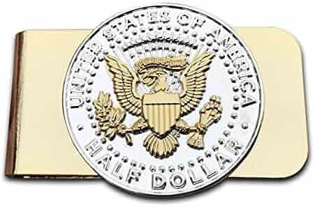 Presidential Seal JFK Half Dollar Goldtone Money Clip by Old Dominion LLC
