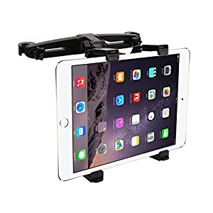 "Bedee Car Seat Headrest Mount Holder Adjustable Rotatable for Apple iPad Air/Mini/Pro, Samsumg Galaxy Tab, Kindle Fire, 7"" to 12"" Tablets, for Portable DVD Player DBPOWER/APEMAN/WONNIE/COOAU/FUNAVO"