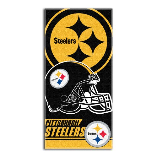 Northwest Towel Beach - NFL Pittsburgh Steelers Double Covered Beach Towel, 28 x 58-Inch