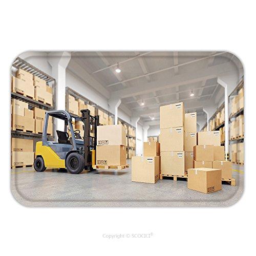 Flannel Microfiber Non-slip Rubber Backing Soft Absorbent Doormat Mat Rug Carpet Forklift Truck In Warehouse D Illustration 348726776 for - Warehouse Dress Paisley