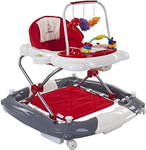Sun Baby Rocker Kitty - Andador para bebé, color rojo y gris ...