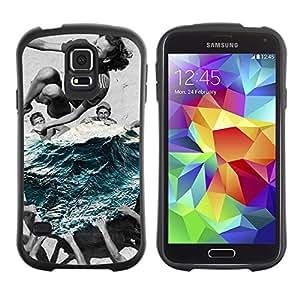 Suave TPU Caso Carcasa de Caucho Funda para Samsung Galaxy S5 SM-G900 / summer swim / STRONG
