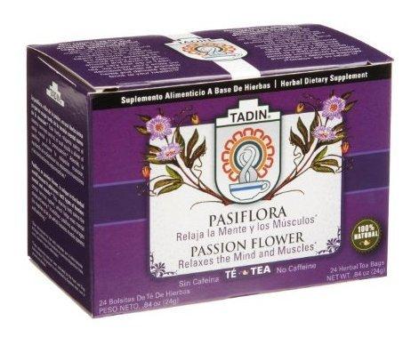 Tadin Tea, Pasiflora (Passion Flower) Tea, 24-count Tea B...