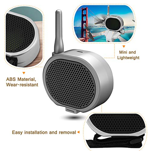 TOMAT Mini Loudspeaker Real Time Megaphone Portable Long-Distance Interference-Free Microphone Amp for DJI Mavic Mini 2/Mavic Air 2/Mavic Pro 2/Phantom 3 4 /Xiaomi Drone