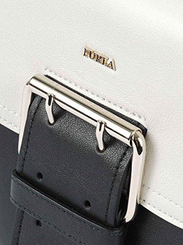 Furla Borsa A Spalla Donna 9033590PG Pelle Bianco/Nero