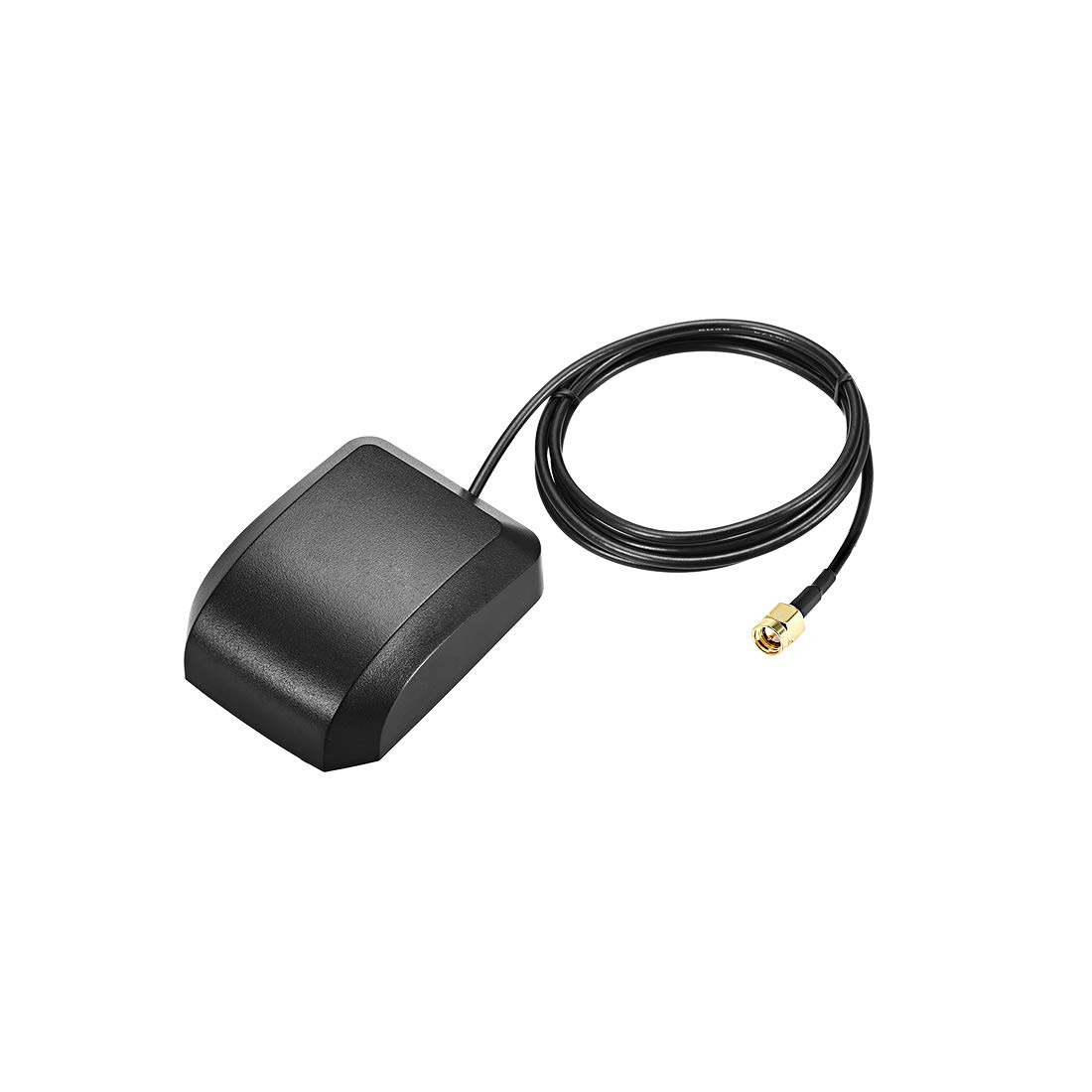 uxcell GPS Active Antenna Compatible with Beidou SMA Male Plug 34dB Aerial Connector Cable with Magnetic Mount 1 Meters Wire