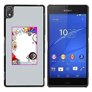 Be Good Phone Accessory // Dura Cáscara cubierta Protectora Caso Carcasa Funda de Protección para Sony Xperia Z3 D6603 / D6633 / D6643 / D6653 / D6616 // Kids Fun Party Birthday Diy