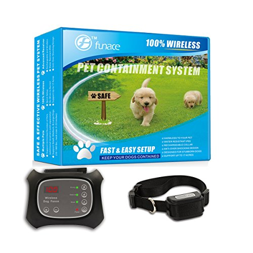 Wireless Pet Fence - Free to Roam Wireless Containment for Dogs - Rechargeable & Waterproof -...