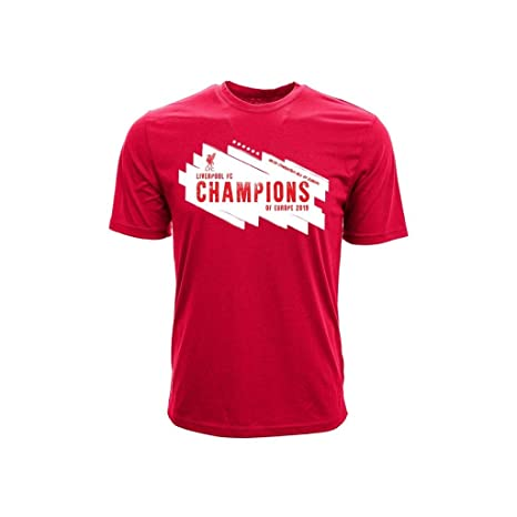 new products 75fe6 5022c Amazon.com : Liverpool - Champions of Europe 2019 T-Shirt ...