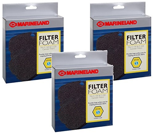 Marineland C-160 and C-220 Canister Filter Foam - 6 Pads (Canister Filter Foam)