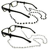 Peeper Keepers Czech Beads & Chains, Eyeglass Retainer, Assortment(4), 2pk mix, w/Cloth & Screwdriver