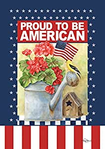 Toland Home Garden 109503 Proud to Be American 28 X 40 Decorative USA-Produced Double-Sided House Flag