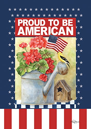(Toland Home Garden Proud To Be An American 28 x 40 Inch Decorative Patriotic July 4 Summer USA Double Sided House Flag)