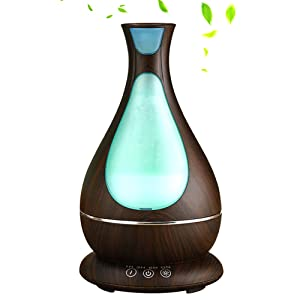 YinQin 400ML Ultrasonic Aroma Diffuser Essential Oil Diffuser Quiet Cool Mist Humidifier with 7-Color LED Lights Changing Aromatherapy for Home Spa Baby Yoga Bedroom Office