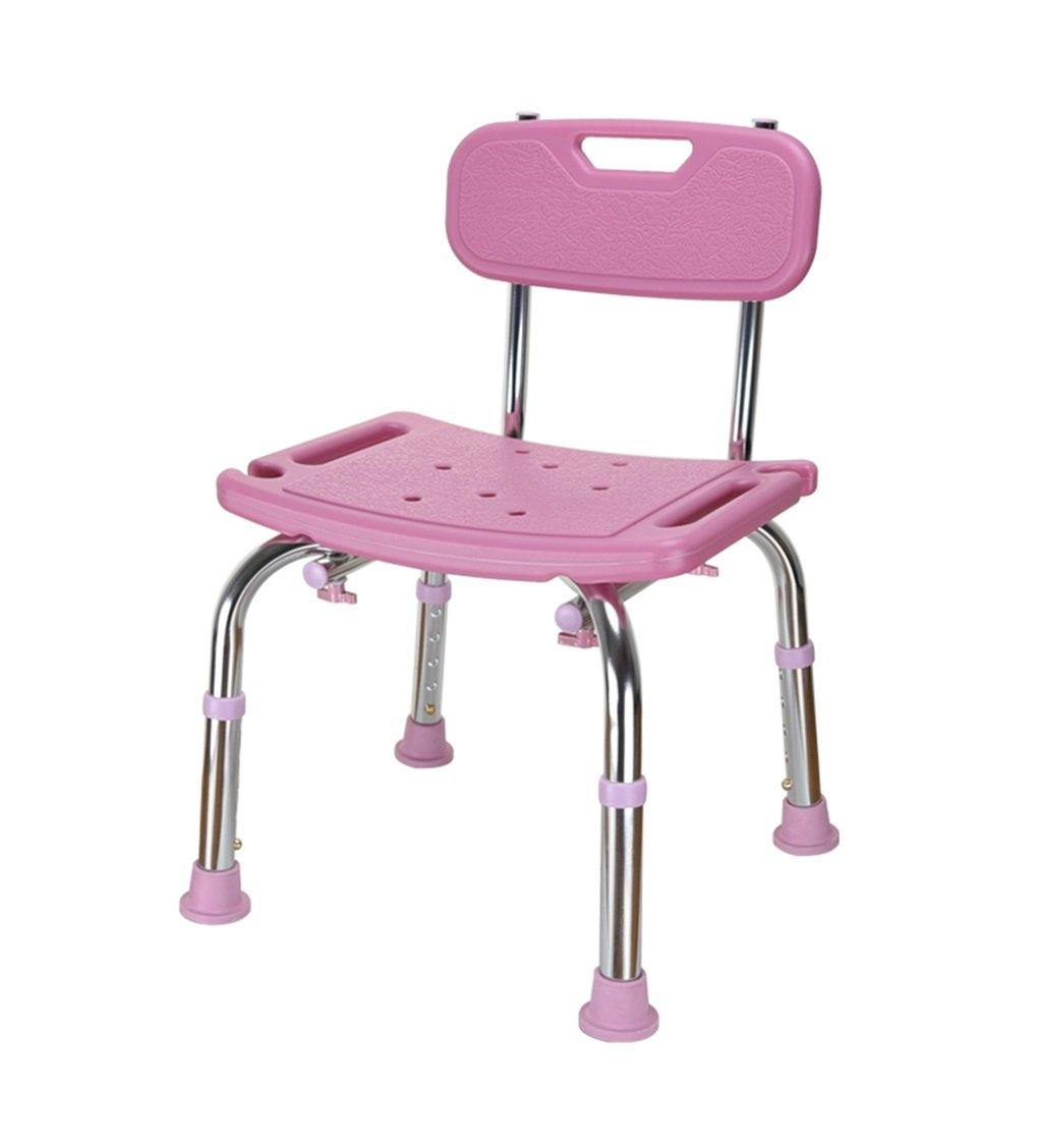 妊娠中の女性のためのバスチェアとアルミニウム合金シャワーシートスツール高齢者シャワーチェア調節可能な高さ水泳チェア - 耐荷重136kg (色 : ピンク ぴんく) B07DPNBQY3 ピンク ぴんく ピンク ぴんく