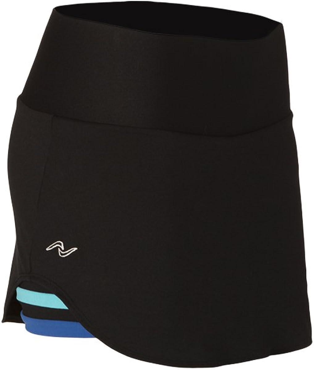 Naffta Tenis Padel - Falda-Short para Mujer, Color Negro/Azul ...