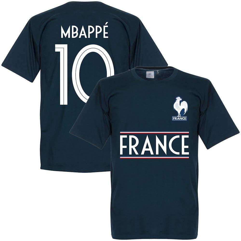 8b78711c896 Amazon.com  France Mbappe 10 Team Tee - Navy  Clothing
