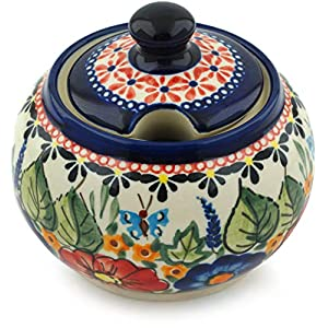 Polmedia Polish Pottery Ceramic Sugar Bowl