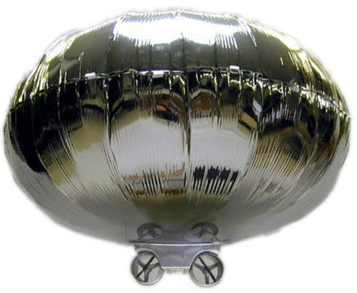 Radio-Controlled Silver Baboom Flying Saucer UFO (Indoor Toy Blimp) 27MHz (Ufo Radio Controlled Toy)