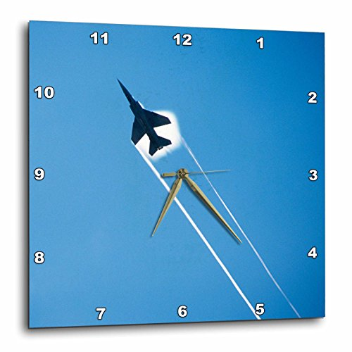 3dRose DPP_207814_1 Mirage Jet Fighter. Wall Clock, 10 by 10