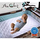 ACC Pack N Play Crib Mattress Pad Cover Fits ALL Mini Cribs, Waterproof & Dryer Friendly.! Best Fitted Crib Protector. Mini & Portable Mattresses. Comfy & Hypoallergenic. Best Value