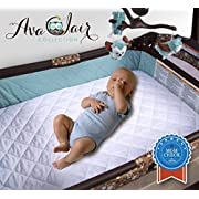 Waterproof Pack N Play Mattress Pad - Fitted Baby Playard Crib Mattress Pad, Mini & Portable Mattresses - Hypoallergenic, Absorbant - 27  x 39  x 5  - Classic White