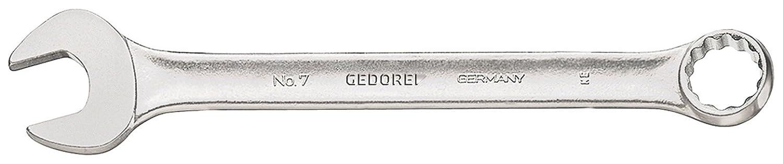 UD-Profil leicht durch schlankes Maul und schmale Maulw/ände GEDORE 7 12 Ring-Maulschl/üssel Ring 15/° abgewinkelt 12 mm matt Verchromt ergonomisch und handlich DIN 3113 Form A
