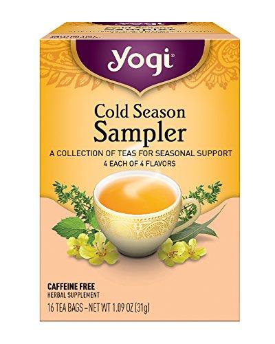 Yogi Tea, Cold Season Sampler, 16 Count (Pack of 6), Packaging May Vary Four Seasons Sampler