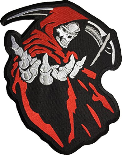 Big size Skeleton Bone of hunter patch size 8 x 10 inch biker heavy metal Logo Jacket Vest shirt hat blanket backpack T shirt Patches Embroidered Appliques Symbol Badge Cloth Sign Costume Gift - Demon Hunter Costume Male