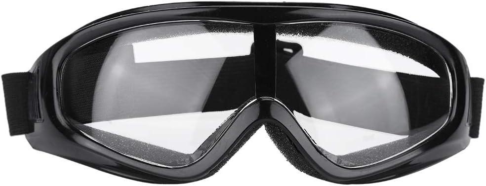 Gafas Safety Protective, Gafas Protectoras Moda Protección de los ojos contra salpicaduras, Gafas protectoras antideslizantes para el ejercicio diario, golf, motociclismo(Transparent Lens)