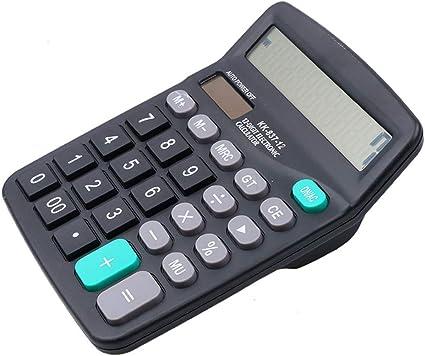 12 dígitos calculadora oficina Jumbo grandes botones Solar mesa ...