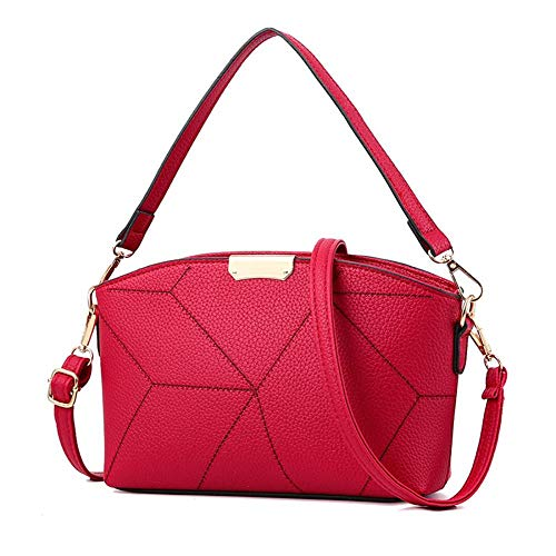 femme taille bordeaux TOYIS à handbag Rouge unique Sac pour main SSTxwa74