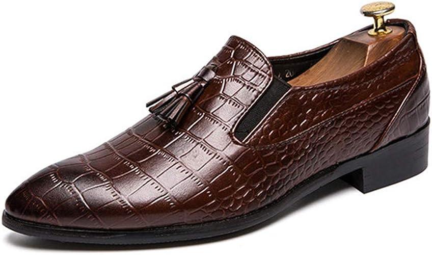 Mocasines de Negocios para Hombres Zapatos de Vestir de Borla ...