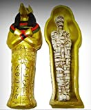 Royal Egyptian Golden Anubis Sarcophagus with Mummy 1:12 Dollhouse Miniatures - My Mini Garden Dollhouse Accessories for Outdoor or House Decor