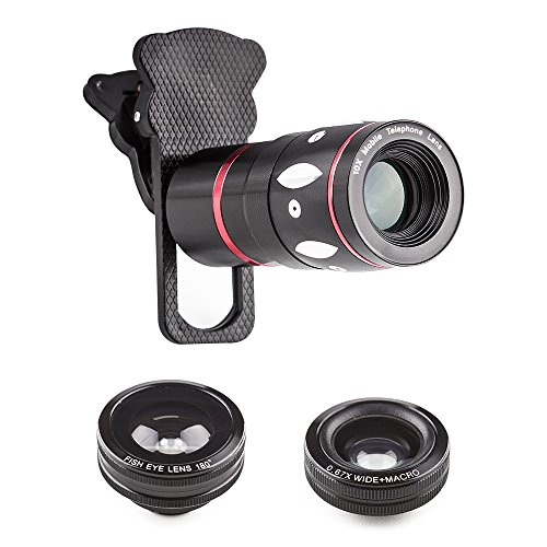wholesale dealer d81aa a139a best Camera phone lens,4 in 1 Clip on Cellphone Lens Kits 10x Zoom ...