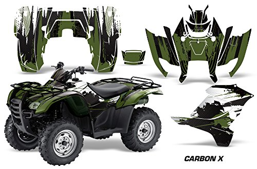 AMR Racing Graphics Kit for ATV Honda Rancher AT 2007-2013 ATV CARBON X FOREST GREEN (Graphics Atv)