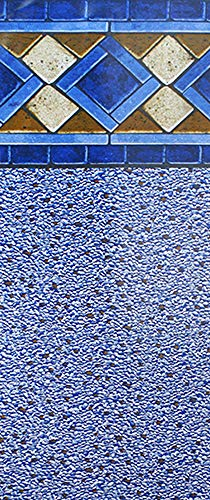 Smartline 12-Foot-by-21-Foot Oval Mosaic Diamond Liner | Beaded Style | 52-Inch Wall Height | 25 Gauge Virgin Vinyl | Designed for Steel Sided Above-Ground Swimming Pools