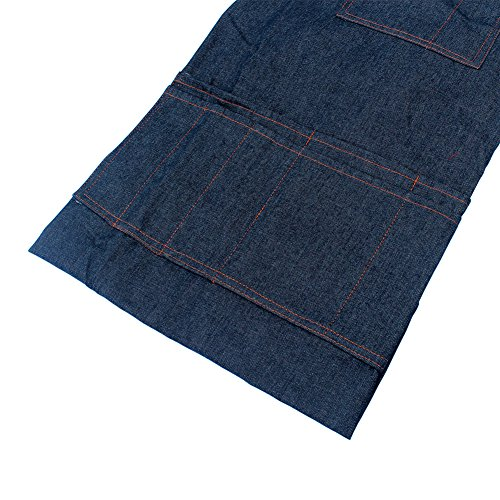 boshiho Denim Jean Work Apron, Adjustable Heavy Duty Work Apron Chef Apron with Cross-Back Straps (Blue) by boshiho (Image #5)
